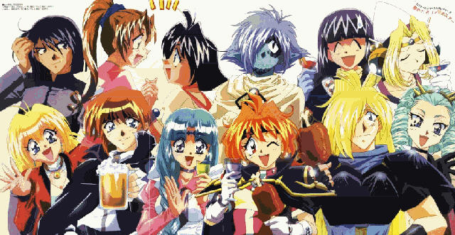 The Cast of Slayers and Lost Universe say hello!  :-)